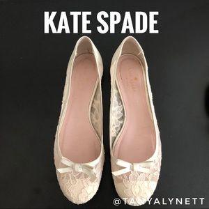 Kate Spade Black Lace Flats BX287